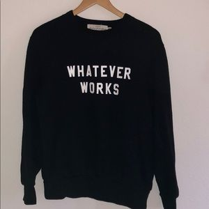 "H&M Oversized Crewneck Sweater ""Whatever Works"""